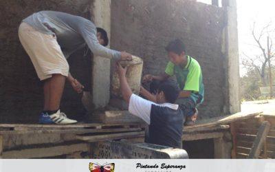 Construcción del sanitario seco